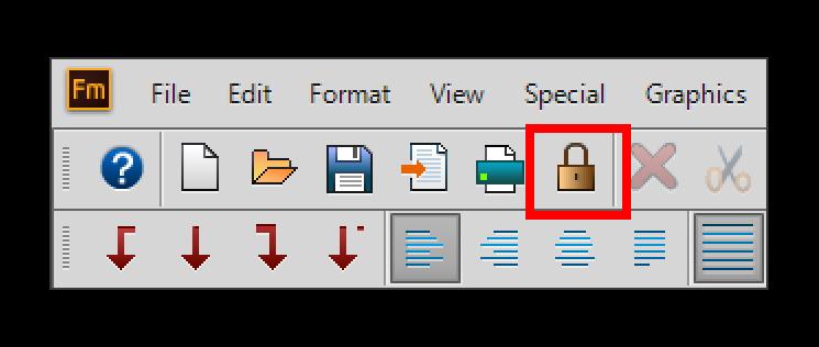 Adobe FrameMaker: Unlocking a document