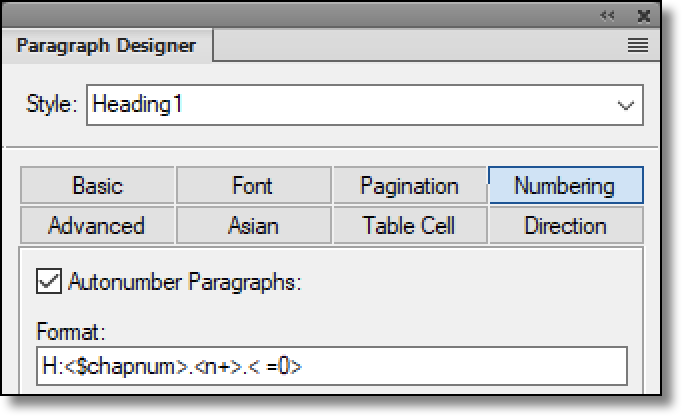 Adobe FrameMaker: Numbered Heads