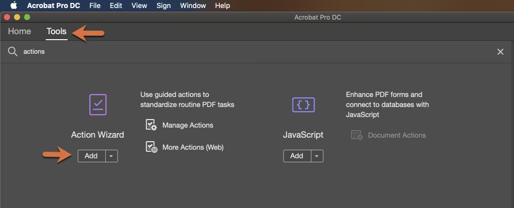 Adobe Acrobat DC: Creating an Action