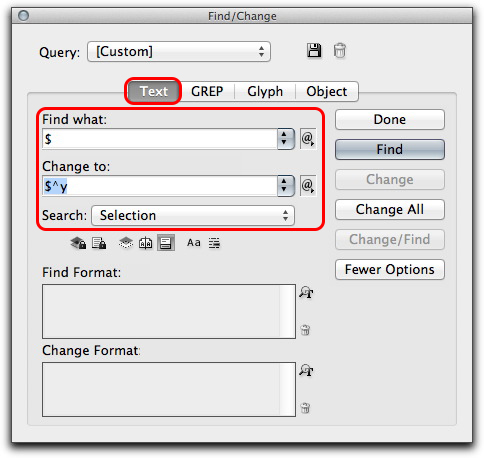 Adobe InDesign: Search for a $, replace with a $ and a Right Indent Tab