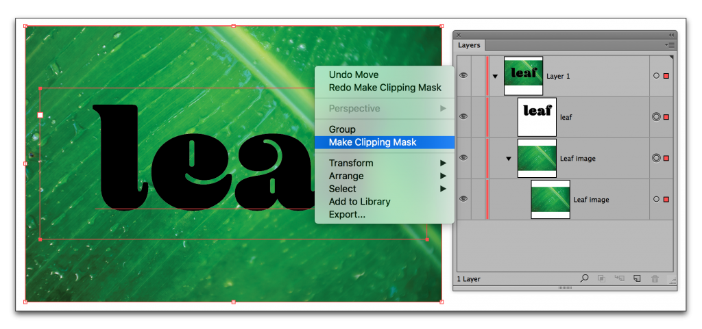 Adobe Illustrator CC 2015: Image inside of text