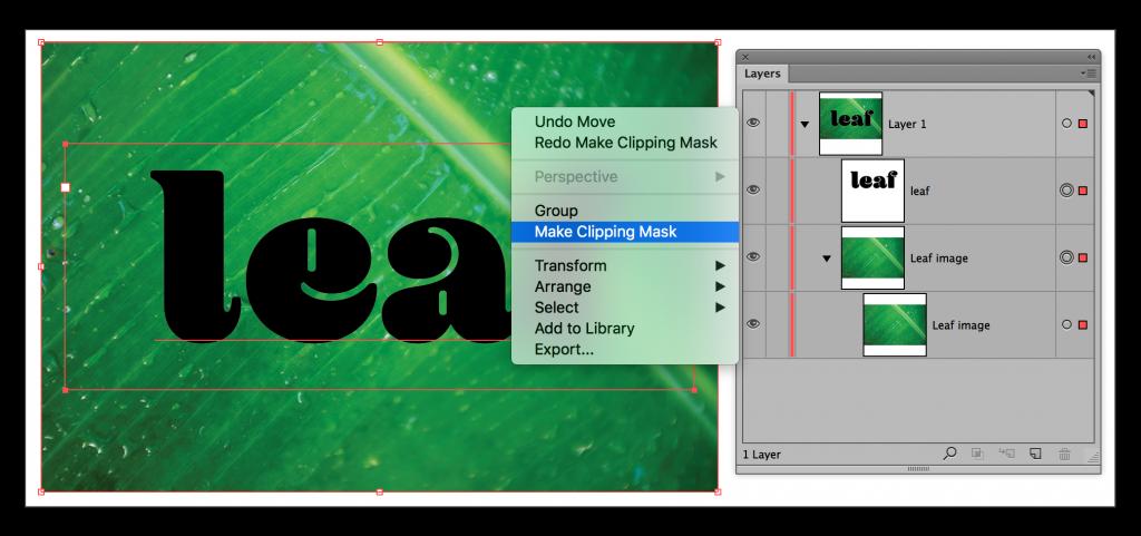 Adobe Illustrator CC 2015: Image inside of text