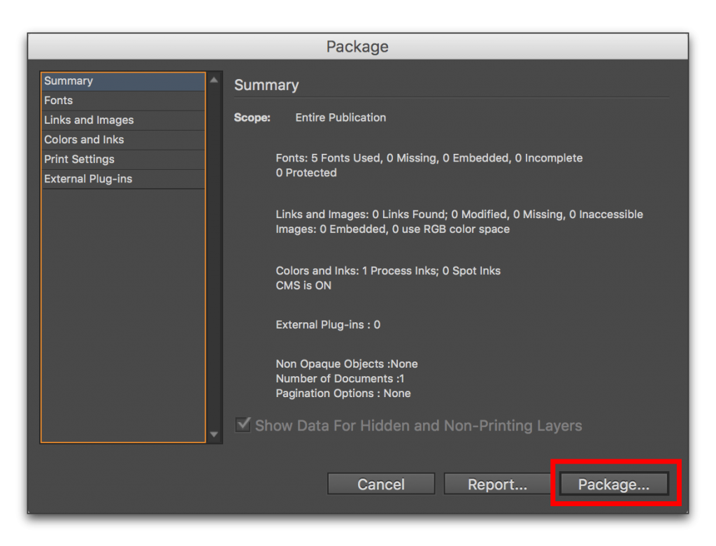 InDesign CC: Saving an InDesign file to an earlier version