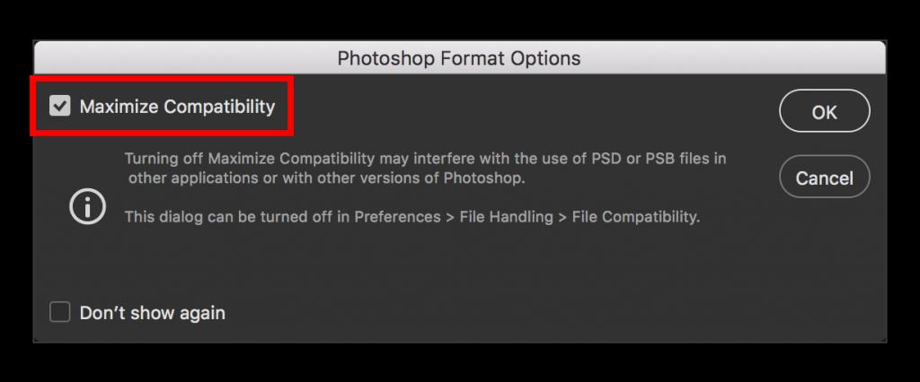 Adobe Photoshop CC 2015: Maximize Compatibility