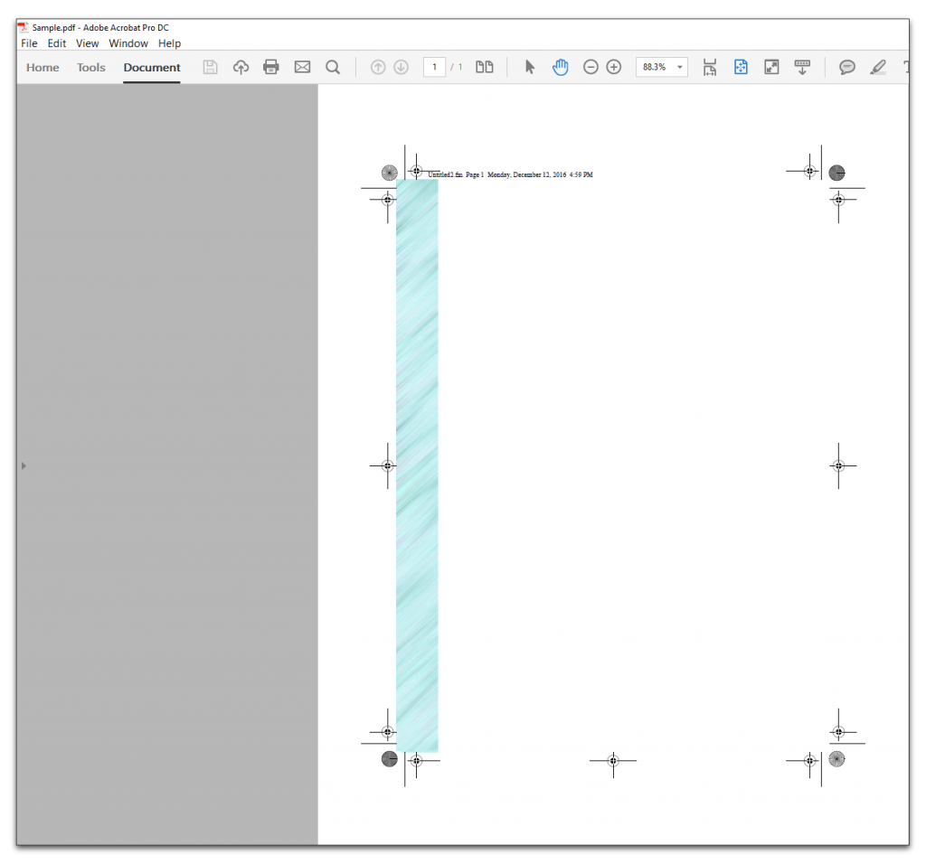 Adobe FrameMaker: Bleeds and trim lines