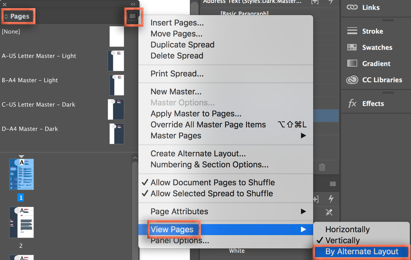 Adobe InDesign: I Can't Edit an Adobe Stock CV Template ...