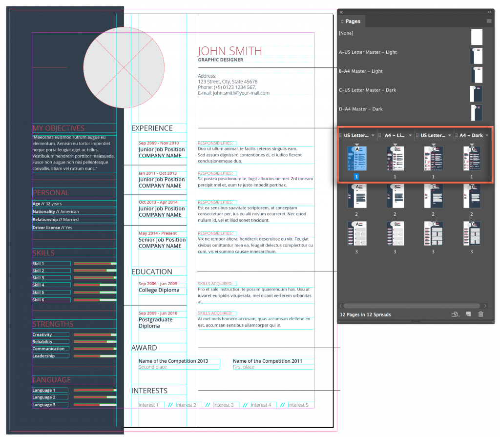 Adobe InDesign CC 2018: Editing a Stock Template