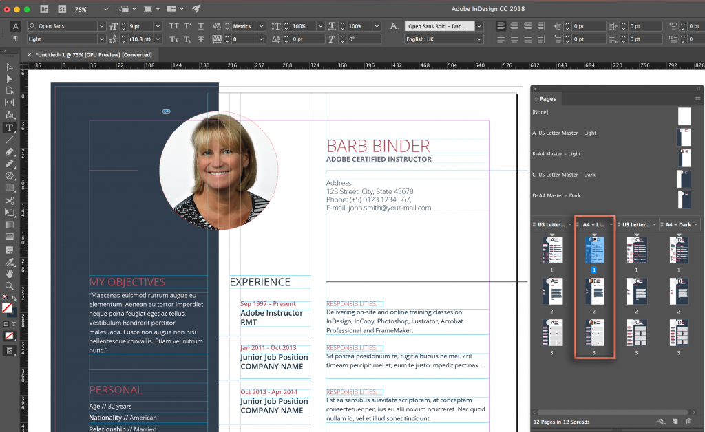 adobe indesign  i can u2019t edit an adobe stock cv template