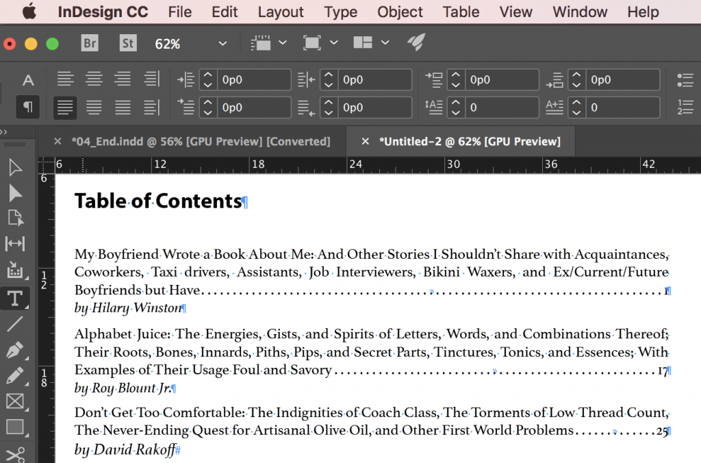 Adobe InDesign: Last Line Right Indent