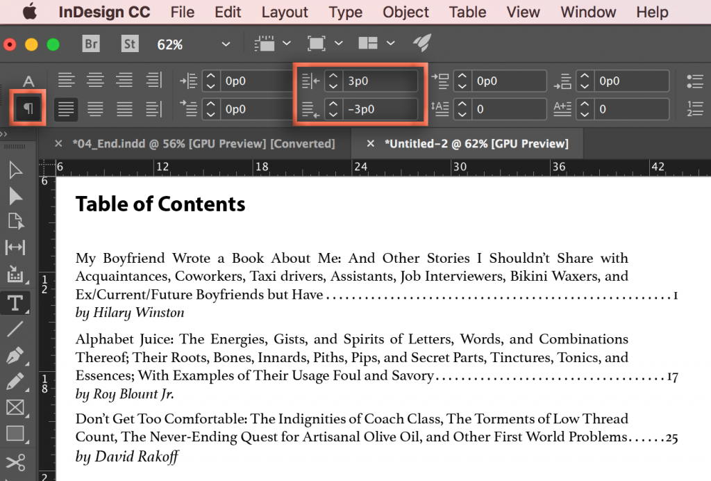 Adobe InDesign: Last Line Right Indent