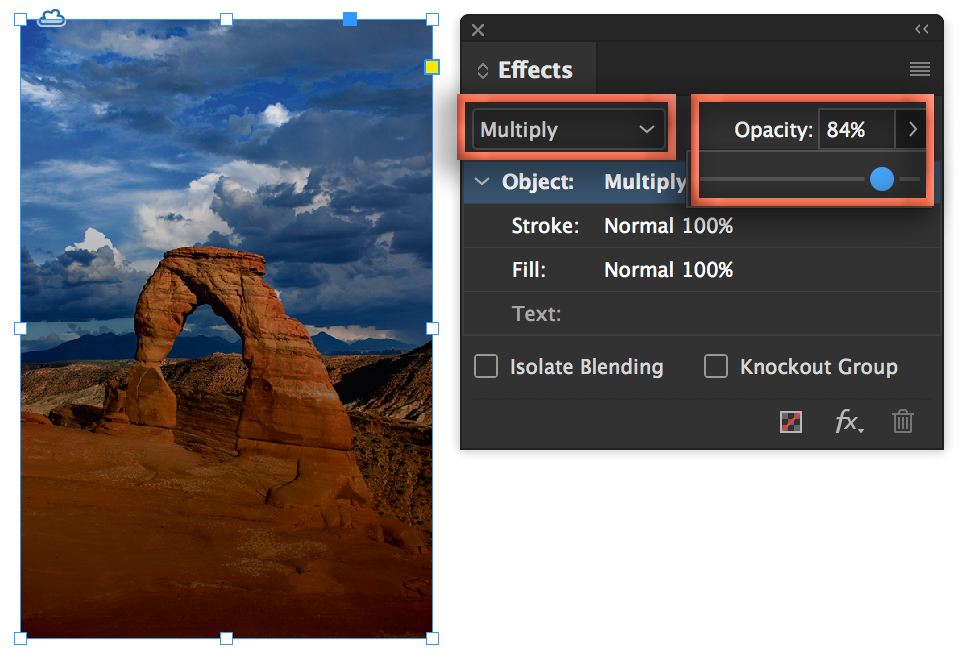 Adobe InDesign CC: Add a gradient overlay to an image