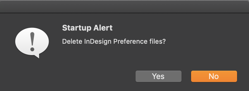 Adobe InDesign: Rebuilding Preferences and Cache Files