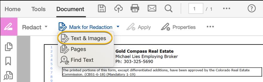 Adobe Acrobat DC: Redact & Sanitize PDF's