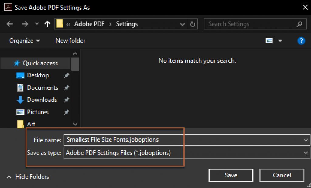 Adobe FrameMaker: Edit PDF Settings