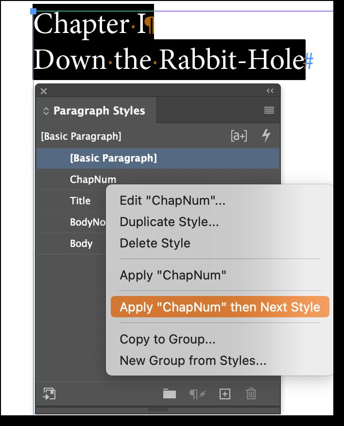 Adobe InDesign: Next Style