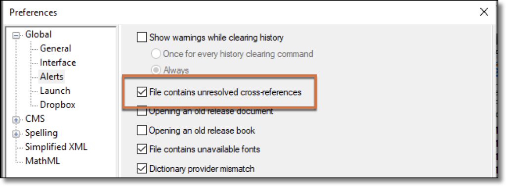 Adobe FrameMaker: Unresolved Cross-References